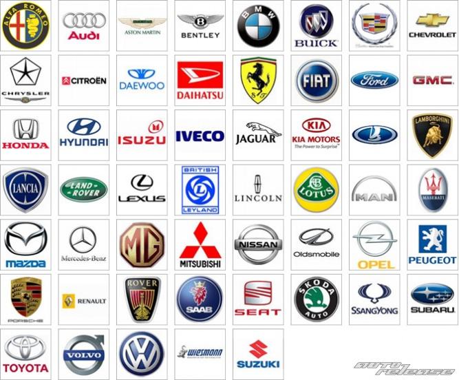 vse marki avto